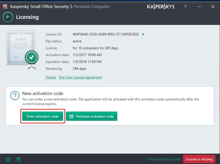 Langkah Aktivasi Kaspersky Small Office Security Optima